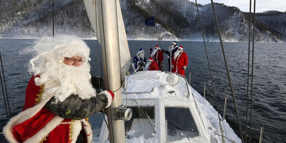 Новый год на яхте картинки